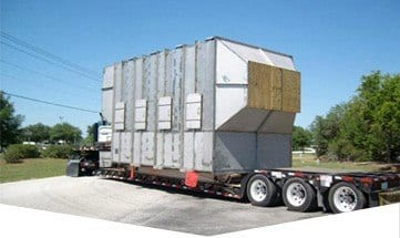 S&B Metal Products custom metal fabrication project being transported